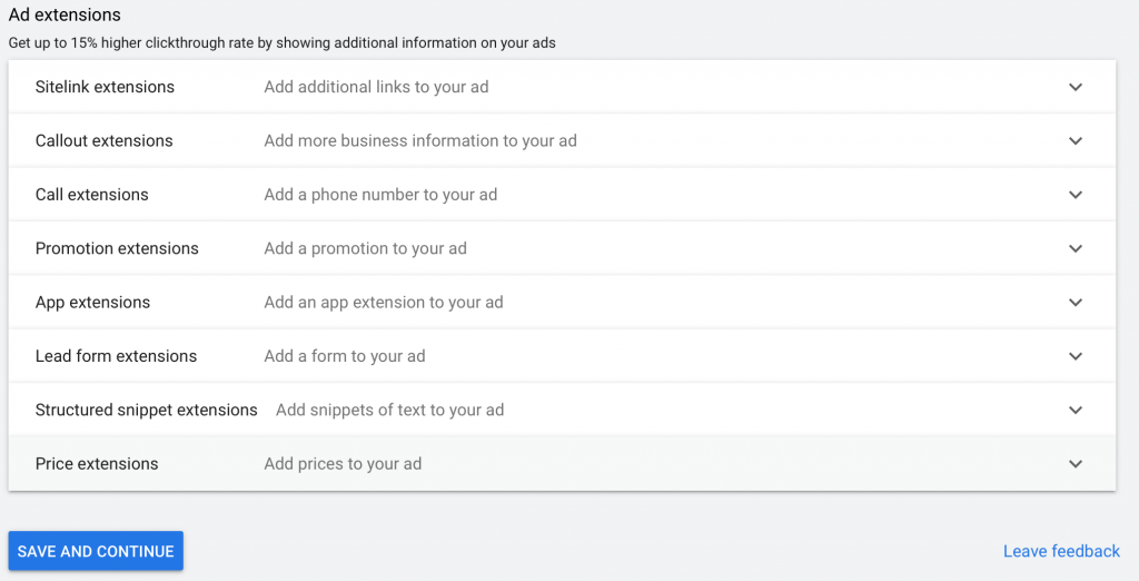 include ad extensions in your google ads for chiropractors