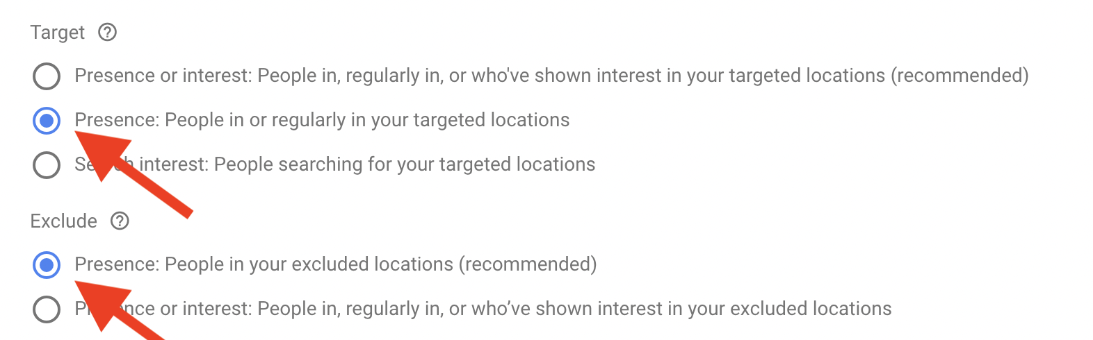 7 Target and exclude