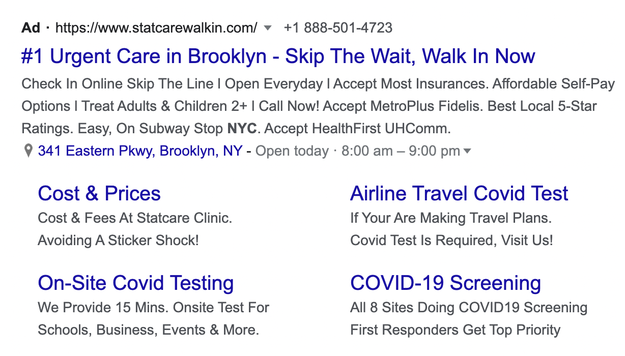 Example of Brooklyn Urgent Care Center