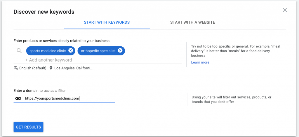discover new keywords example