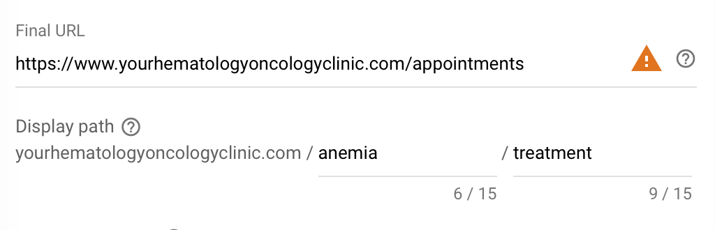 final url headline examples for your google ads for oncologists - hematologists