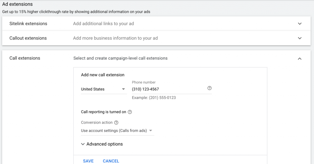create ad extensions for your google ads